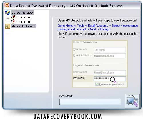 Outlook Password Changer Software